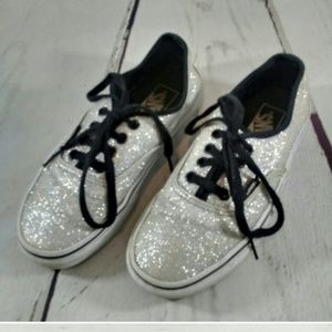 Vans sneakers with silver glitter size 7